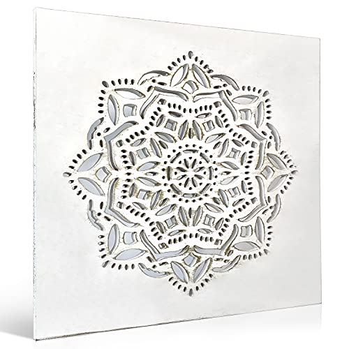 Cuadro Mandala Madera Pared - Cuadros para Cabeceros de Cama con Mandalas Calados - Cuadros Decoracion Salon Modernos y para Dormitorios de Matrimonio - Decoracion Pared Zen