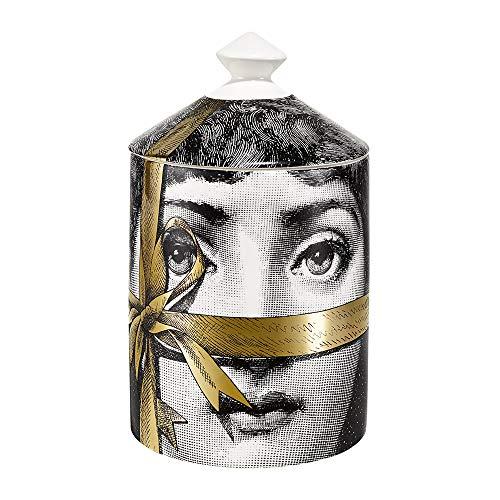 Fornasetti Kerze Regalo aus Porzellan mit goldenem Band