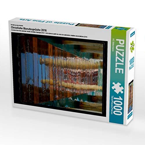 CALVENDO Puzzle Christliche Monatssprüche 2016 1000 Teile Lege-Größe 48 x 64 cm Foto-Puzzle Bild von Photograph HC Bittermann
