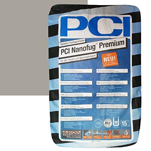 "PCI Nanofug Premium 15kg Flexfugenm""rtel Nr. 22 Sandgrau"