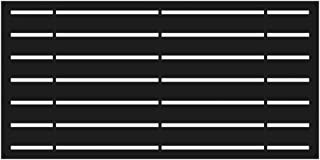 YardSmart 73042822 Decorative Screen Panel 2X4-Boardwalk, Black