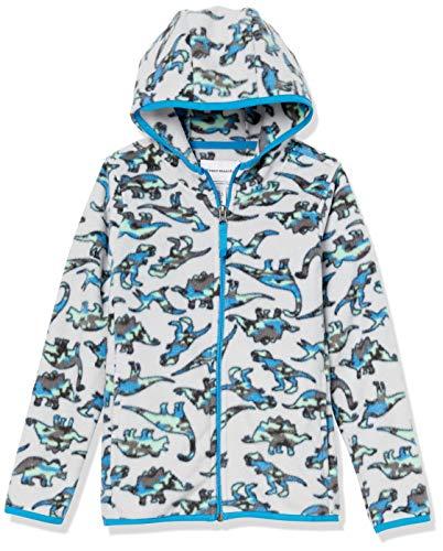 Amazon Essentials Kids Boys Polar Fleece Full-Zip Hooded Jackets, Dinosaur, Medium