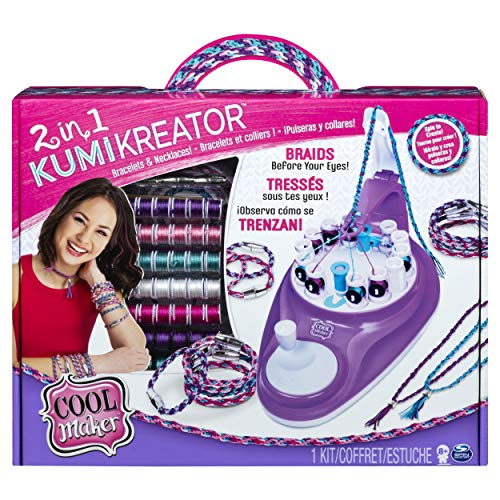 Cool Maker KumiKreator 2 in 1, macchina per creare braccialetti dell'amicizia e collane, dagi 8 anni in su, Multicolore, 6053898-1