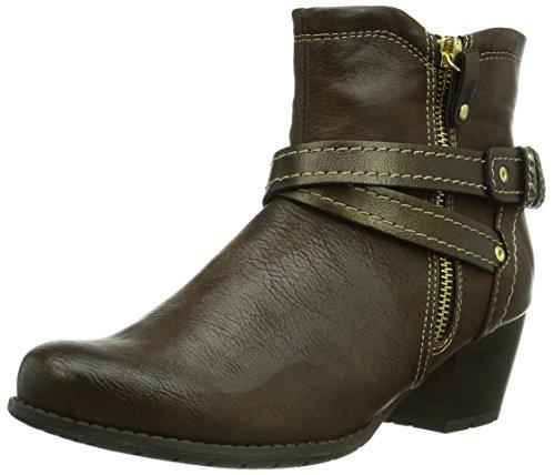 Jana Damen 25324 Cowboy Stiefel, Braun (Cafe 361), 41 EU