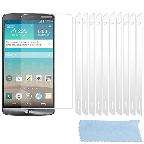 Cadorabo Funda para LG G3 Pantalla de Vidrio Templado Completo en Transparente – Cristal Antibalas Pelíula Protectora (Tempered Glass) Cobertura Completa con Dureza 9H