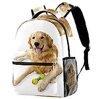 ティーンガールズボーイズユーティリティデイパックウォークトラベルバッグ用バックパックおもちゃの子犬の遊び心のある仲間とペットの犬ウォーターボトルパケット付き