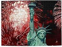 独立記念日自由の女神花火500ピースジグソーパズル大人用キッズゲームおもちゃギフト壁の装飾