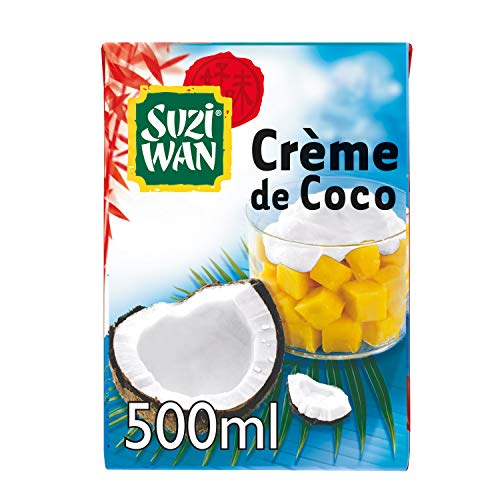 SUZI WAN Crème de Coco 500 mL - Pack de 12 unités