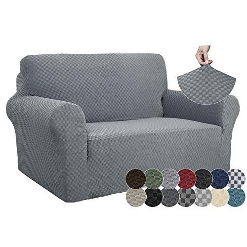 ZNSAYOTX - Fundas de sofá de Jacquard de 1 Pieza para sofá de 2 Cojines de Alta Elasticidad para sofá de Dos plazas, Funda...