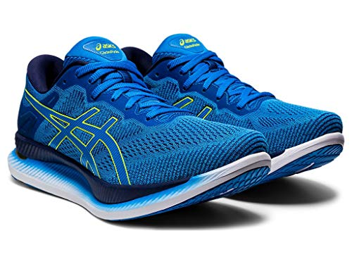 ASICS Men's Glideride Running Shoes, 13M, Directoire Blue/Lime Zest