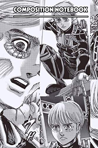 Armin Arlert Attack On Titan Notebook: (110 Pages, Lined, 6 x 9)