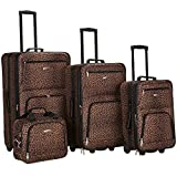 Rockland Jungle Softside Upright Luggage Set, Leopard, 4-Piece (14/29/24/28)