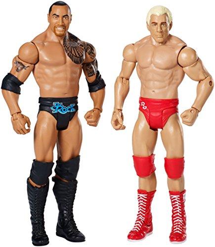 WWE: Wrestle Mania - Ric Flair y La Roca Figura De Acción Pack de 2