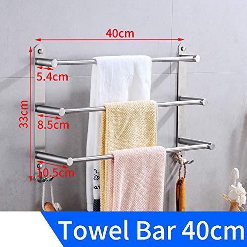 Starry Sky Bad handdoekhouder houder roestvrij staal drielagige handdoekhouder hangend houder aan de muur bevestigde doek-ophang-tandstang met haak