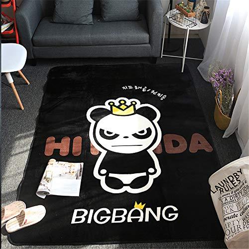 Mishxh tapijt, minimalistische stijl, zwart, antislip, waterdicht, zacht en wollig, geschikt voor woonkamer, slaapkamer, keuken, hal. 120x200cm