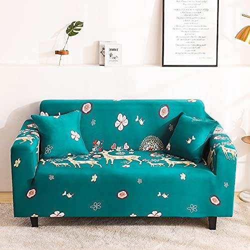 Funda de sofá elástica elástica, Funda de sofá Ultrafina Ajustada para Sala de Estar, Funda de sofá Profunda, Funda para Silla A14, 3 plazas