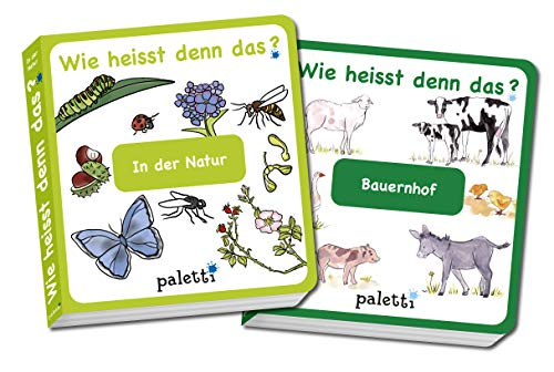 Wie heisst denn das? Kinderbücher 2er Set Pappbuch In der Natur und Bauernhof