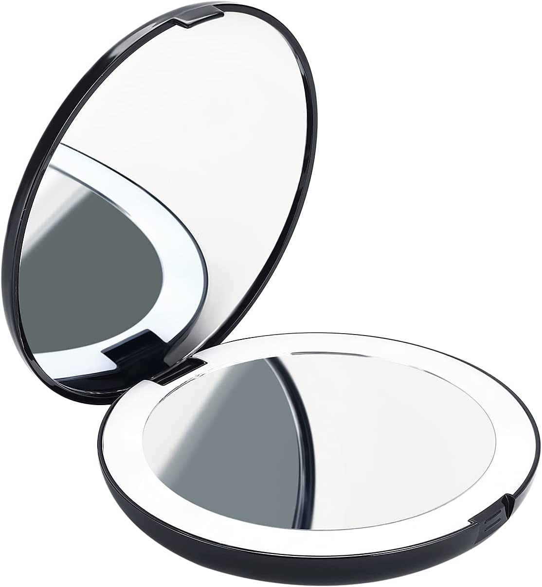 LED Lighted Travel Makeup Mirror Folding 1X 2X Magnification Max 78% Dealing full price reduction OFF