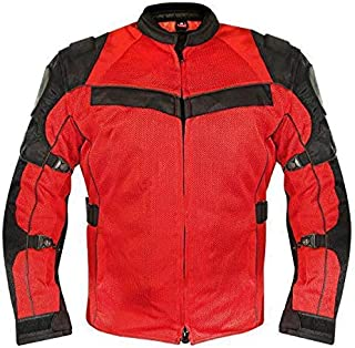 Xelement XS8161 `All Season` Men`s Black/Red Tri Tex/Mesh Jacket - Large