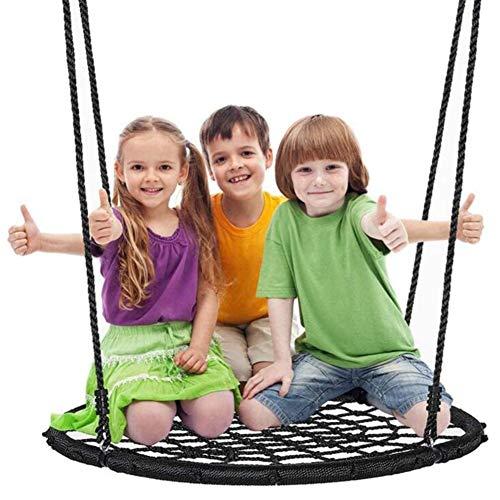 Balançoires YXX Nid D'oiseau Jardin À Toute épreuve d'arbre en Toile d'araignée Volante pour 3 Enfants ou 2 Adultes, Chaises hamac suspendues Rondes extérieures avec Corde réglable