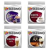 Tassimo Costa Cappuccino + Cadbury + Costa Latte + L Or Latte Macchiato Caramel x 4 Favourite Packs, Total 56 Discs