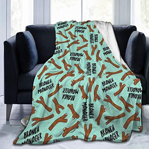 Manta de forro polar de franela para sofá y cama con diseño de perro divertido – Día de invierno verde menta