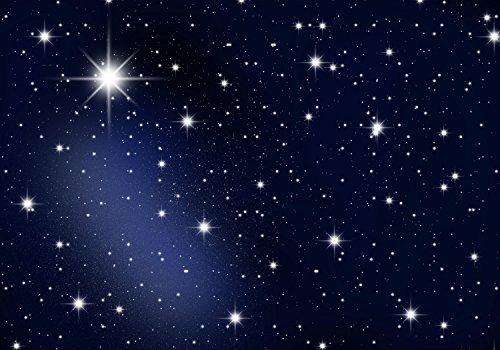 wandmotiv24 Carta da parati Stelle del cielo notturno XS 150 x 105 cm - 3 parti Carta da parati fotografica, murale, carta da parati a motivi, carta da parati in tessuto non tessuto M0019