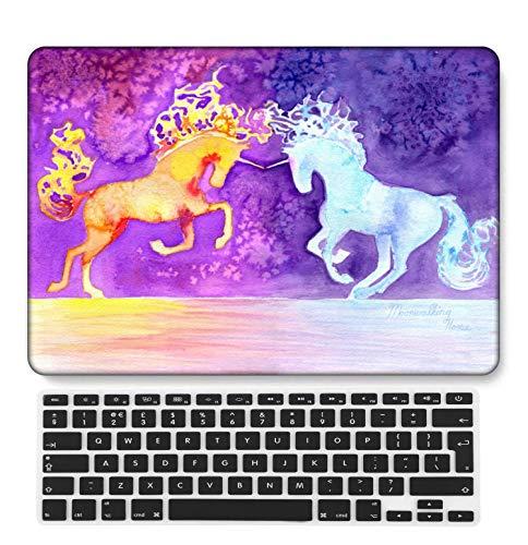 GangdaoCase Carcasa rígida de plástico ultrafina, ligera, compatible con MacBook Pro de 15 pulgadas con Touch Bar/Touch ID con teclado del Reino Unido A1707/A1990 (Animal A 85)