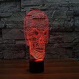 Yyhmkb Lampara Regalos Para Barra Led Bebe Luz Nocturna Lamparas Luz Lámpara De Mesa De La Atmósfera Del Regalo De La Luz Visual Led Del Tacto Colorido De La Luz 3D Del Cráneo Lateral