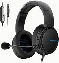BINNUNE Gaming Headset para PS4 PS5 PC Xbox One Playstation 4 Xbox 1 juego con micrófono Audifonos Gamer Auriculares con micrófono