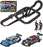 Carrera GO!!! 62520 Race Up Electric Powered Slot Car Racing Kids Toy Race Track Set Includes 2 Hand Controllers and 2 DTM Cars in 1:43 Scale