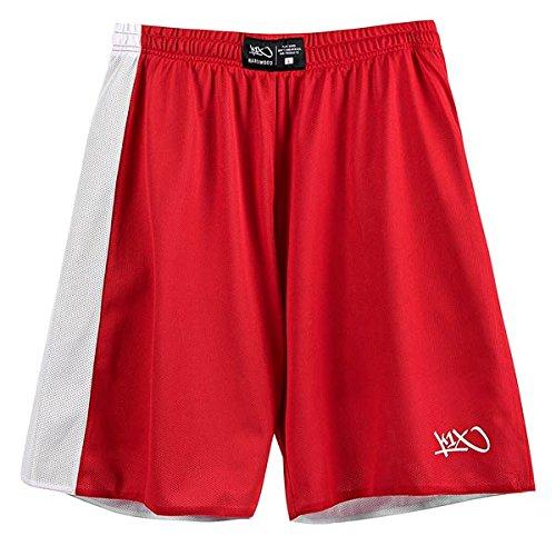 k1x Hardwood Reversible Game Set Shorts red/white
