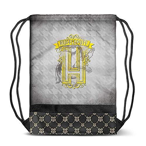 KARACTERMANIA Harry Potter Emblem Hufflepuff-sacca Storm Turnbeutel, 48 cm, Grau (Grey)