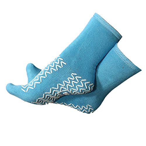 NHS Anti-Rutsch-Socken, latexfrei, zweifaches Profil, medizinisch zugelassen, weich, 1 Paar Gr. X-Large, beige