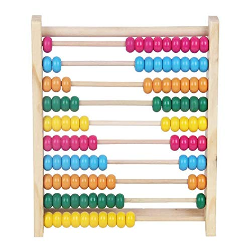 Shoze Wooden Abacus Colorful Beads Calculate Counting Computing Math Numbers Learning Teaching Toy for Baby Children Kids Infant Preschool Early Educational