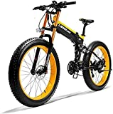 Bicicletas Eléctricas, 26' Electric bicicleta de montaña, 36V 250W 6AH batería de litio de la batería Ocultos Esquí de bicicletas, Doble disco de freno de aleación de bicicleta eléctrica (Color: Amari