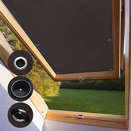 KINLO Protección Solar térmica para Ventanas detecho Protección térmica para Interiores sin taladrar y sin Pegamento Gran selección para Ventanas Velux S08 y 608-96 x 115cm - Castaño