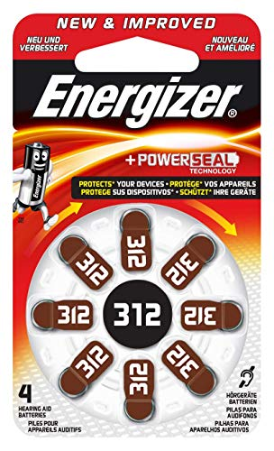 Energizer Hörgerätebatterien 312, EZ Turn & Lock, 8 Stück