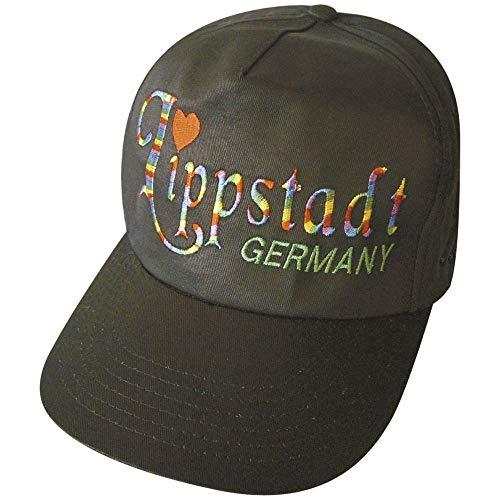Fan-O-Menal Baseballcap mit Stick - LIPPSTADT Germany - 68062 schwarz - Cap Kappe Baumwollcap