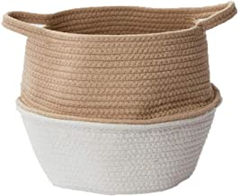 JUAN Storage Basket Dirty Clothes Bin Simple Cotton Thread Storage Balcony Sundries Sort Out (Size : Large)