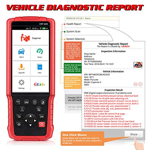 LAUNCH X431 CRP429C OBD OBD2 Scanner