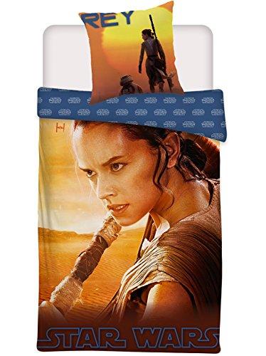 Star Wars - Juego de cama reversible (135 x 200 cm + 80 x 80 cm, 100% algodón), diseño de Star Wars