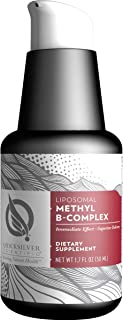 Quicksilver Scientific Liposomal Methyl B-Complex - Liquid Active B Vitamins with Folate, Methylcobalamin + Milk Thistle, ...