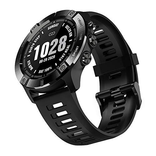 Reloj Inteligente Deportivo Militar con Bluetooth Reloj de Pulsera Resistente al Agua con frecuencia cardíaca/sueño rastreador de Actividad al Aire Libre para Hombres Mujeres Android iOS (Black)