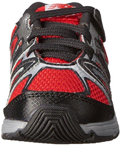 New Balance New Balance KV697 Infant Hook and Loop Running Shoe (Infant/Toddler), Red/Black, 17 M EU