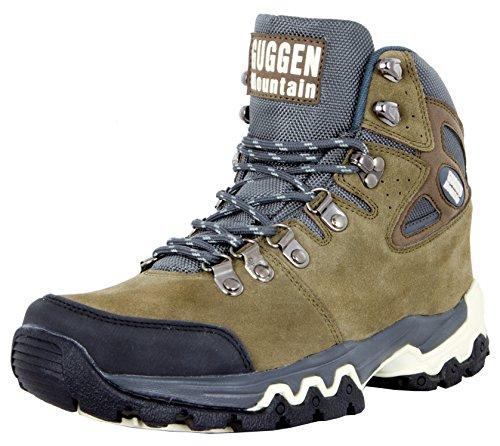 GUGGEN Mountain M008v2 Herren Bergschuhe Wanderschuhe Wanderstiefel Outdoor Schuhe Trekkingschuhe, Braun, EU 44
