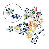 Small Glass Daisy Flower Beads, Premium Quality Hand Blown Glass Stem Filters (25+5 Pack)
