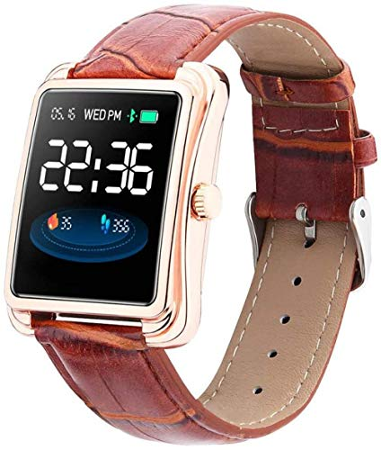 YSSJT Smart watch activity tracker blood pressure heart rate monitor waterproof pedometer bracelet-Rose gold