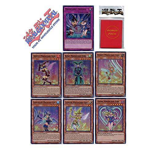 Yugioh Dark Magician Girl Complete Lot of 7 MVP1