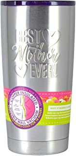 Roughneck Stainless Steel 20 oz. Vacuum Insulated Travel Mug, Mother's Day Designs - Best Mother Ever